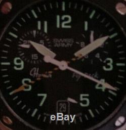 Swiss Army Hunter Mach 2 Chronographe Flyback Swiss Air Force Montre À Quartz Sapphire
