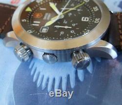 Swiss Armyrarer Homme Airboss Mach 3 Airforce 27j Chrono + Saphir + Cuir Oem = Nice