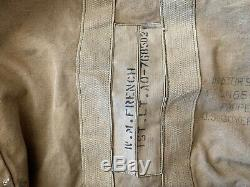 Toile Original Vintage Ww2 Us Aviateurs Kit Sac Ang 505-1 Us Army Gouvernementaux Airforces
