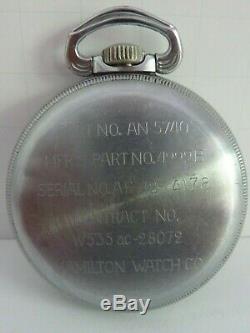 U. S. Armée Armée De L'air Navigation Principale Montre 4992b Hamilton Sharp Condition