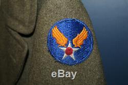 U. Ww2 Originale Early S. Army Air Forces Cadets De L'aviation Od Laine Pardessus, 1942 D
