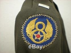 Uniforme Des Officiers De L'armée De L'air Des États-unis De La Seconde Guerre Mondiale Nommé B-17 Pilot 8th Air Force Group Lot