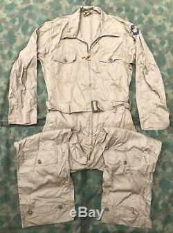 Us Air Force Type An-s-31 Combinaison De Vol Été Tan Cotton Sz 38