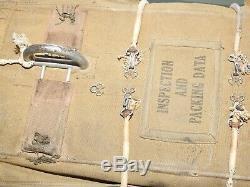 Us Army Aaf Ww2 8e Air Force Du Groupe Jaune Pilote Qac A-4 Coffre Parachute Pack