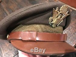 Us Army Air Force Aaf Ww2 Pilote 50 Mission Crush Laine Crusher Cap