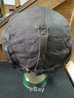 Us Army Air Force Flight Cuir Casque A-11 Taille Grand Spec No. 3189