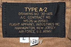 Us Army Air Force Flyers Sac À Main En Cuir Pour Hommes A-2 Taille De La Veste 48 Long
