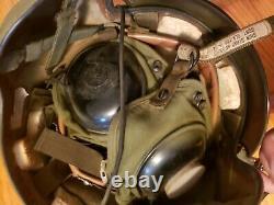 Us Army / Force Aérienne Aviation Militaire Pilote De Chasse Casque Communication Vintage