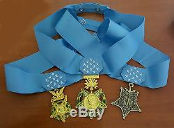 Us Army Navy Air Force Medal Of Honor Et Ruban Full Size Replica