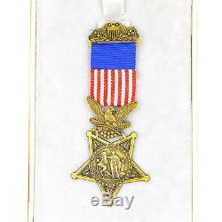 Us Commande De La Commande Ww1 Ww2, Armée, Marine, Armée De L'air, Ensemble Complet De Médaille D'honneur Top Rare