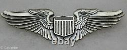 Us Pre Ww2 Army Air Force Pin Back 1930s Pilot's Wings 3 Gemsco Ny Nr Mint M333