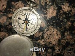 Us Ww2 Usaaf Armée De L'air Forces Air Compass De Poche Longines-wittnauer Original