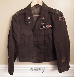 Us Ww2 / Wwii Armée De L'air Armée Usaaf Ike Jacket Patch Du Lt Col Bullion 8ème Air Force