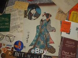 Us Wwii 20e Armée Armée De L'air Gunner Médaille Papier Document Lot Groupe Pacifique Japon