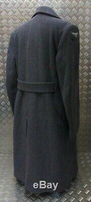 Véritable Royal Air Force Britannique Raf Wraf O / R Longueur Laine Pleine Greatcoat Pardessus