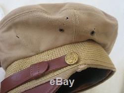 Véritable Ww2 Vintage Us Army Air Force Mission 50 Crusher Hat Bancroft Flighter