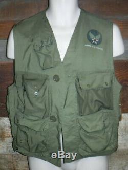 Veste D'urgence Us C-1 De L'armée De L'air Us Vintage (us Wwi) Avec Holster Made In USA L @@ K