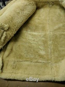 Veste De Bombardes Ac-18604 Leather Sheepskin Musée De L'armée De L'air Américaine