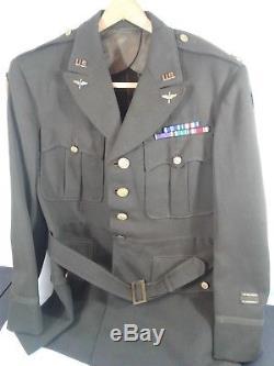 Veste De Robe Verte Des Forces Aériennes De L'armée De La Seconde Guerre Mondiale Majeure 8e 13e Étoile Argentée Dfc Ph Théâtre