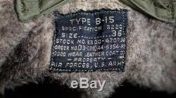 Veste De Vol B-15 De L'army Air Force B-15 Avec Patch D'escadron Nommé