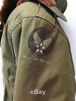 Veste De Vol De La Force Aérienne De L'armée Américaine B-11 De La Seconde Guerre Mondiale