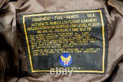 Veste De Vol Vintage Avirex Type A-2 Leather Army Air Forces 1978-01 Grande