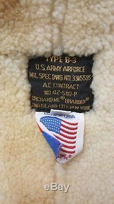 Veste En Cuir Shearling B-3 Bomber Us Army Airforce