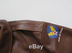 Vêtements D'usure Rugueux Vtg Eastman Cuir Type A-2 Armée De L'air Bomberjacket 50