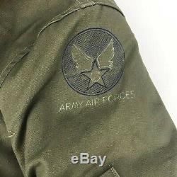Vintage 40 Ww2 Armée Us Air Force B-15 Veste De Vol Militaire