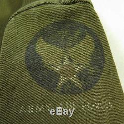 Vintage 40s Costume De Vol De La Seconde Guerre Mondiale Hommes 42 Combinaisons De Morts Army Air Force Crest