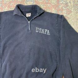 Vintage 50s 60s Champion Usafa Reverse Weave Air Force 1/4 Zip Sweatshirt Rare