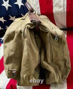 Vintage 50s De L'armée De L'air Américaine Sac De Capitaines Valise Militaire Stencil Robt. W. Crochet