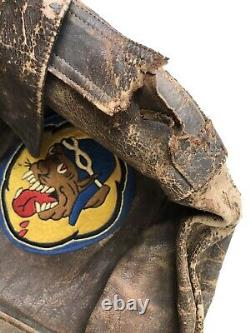 Vintage Dessin Ww2 Type A-2 Us Air Force 36th Fighter Squadron Men's Jacket