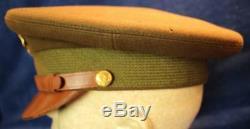 Vintage Deuxième Guerre Armée / Armée Officier De La Force Aérienne Laine Chapeau Taille 7 3293
