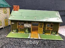 Vintage Marx Army / Air Force Training Center Playset Buildings Lot De 3