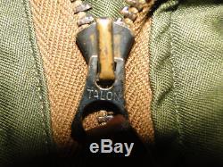 Vintage Original Ww2 Us Army Forces Aériennes Usaaf Flight Jacket B-10 B15 Taille.