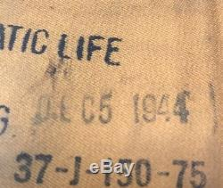 Vintage Ww2 Life Perserver Gilet Type 84 Firestone Armée De L'air Force