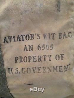 Vintage Ww2 Usaaf An-6505 Sac D'aviateurs Army Air Forces