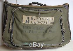 Vintage Wwii Us Airmerie Air Force B-4 Flyers Sac Hinson Mfg Militaire Pilot Garment