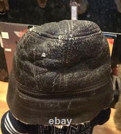 Vintage Wwii Usaaf Us Army Air Force B-2 Bomber Sheepskin Leather Flight Cap