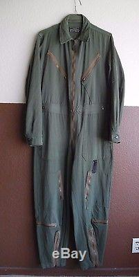 Vtg Ww2 Us Army Air Forces Light Flying Gabardine Type L-1 Costume Moyen Longusaaf
