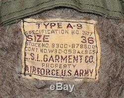 Vtg Wwii A-9 Pantalons À Vol D'alpaga Sz 36 Us Army Air Force Military Nice