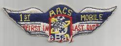 Ww 2 Us Army Air Forces Système De Communications Aériennes 1er Mobile Patch Inv # S292