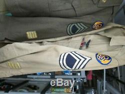 Ww II 8ème Armée Airforce Ike Style Avec Uniforme Métaux L K