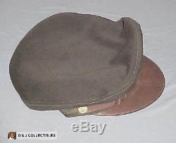 Ww II Us Armée De L'armée De L'air Taille Moyen Nommé Crusher Style Visor Hat, Cap