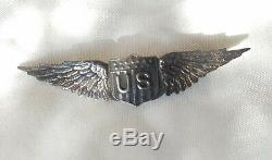 Ww1 Us Army Air Force Tiffany Co. Pilot Wing 2.5 Sterling Pinback