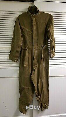 Ww2 Armée Us Air Force Flying Tiger Flightsuit Salopette Avec 7 Tirettes De Travail