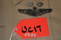 Ww2 Armée Usaaf Force Aérienne Lieutenant-colonel Pilote Senior Pacific Theater Khaki Uniforme Vg+