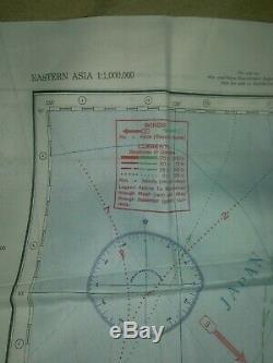 Ww2 États-unis. Armée Air Force Carte Évasion En Soie Hakodate, Japon Taille De L'édition 1943 23 × 23