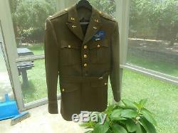 Ww2 L'armée Américaine 8 Uniforme D'officier Nommé Air Force Manteau Et Chapeau